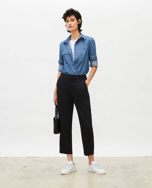 Loose elasticated polyester trousers BLACK BEAUTY