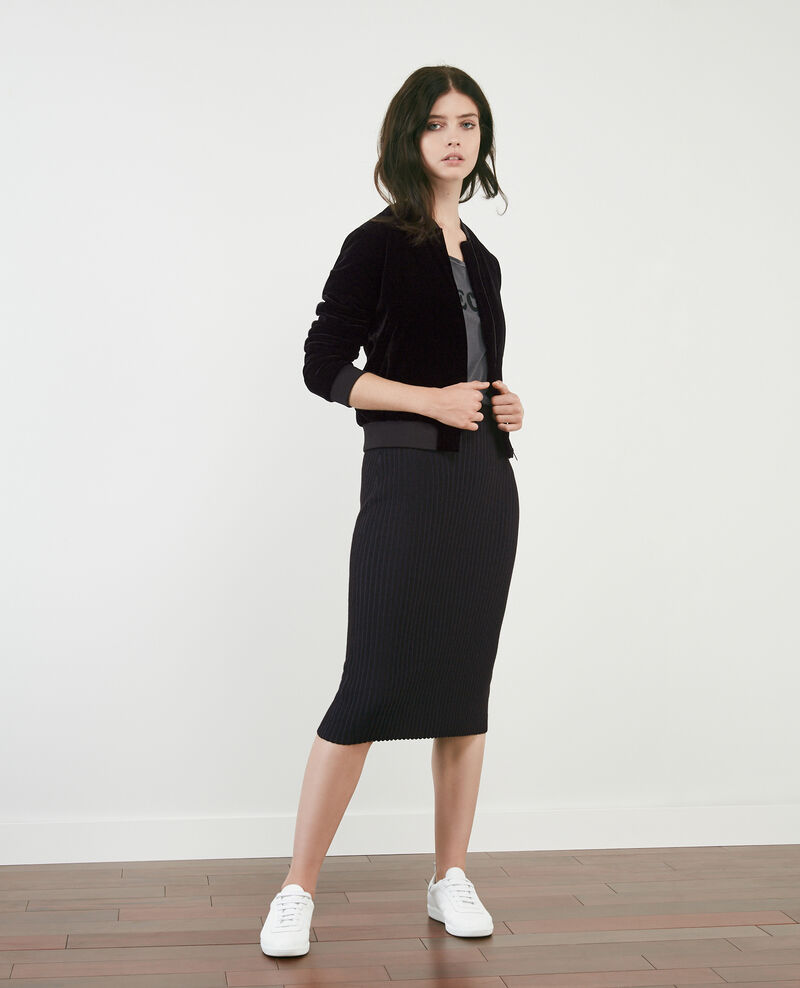 Ribbed knit skirt Noir Dali