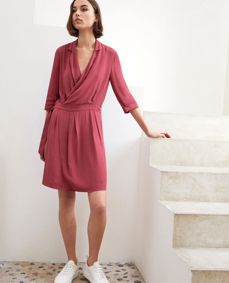 Wrap dress Earth red Gideen