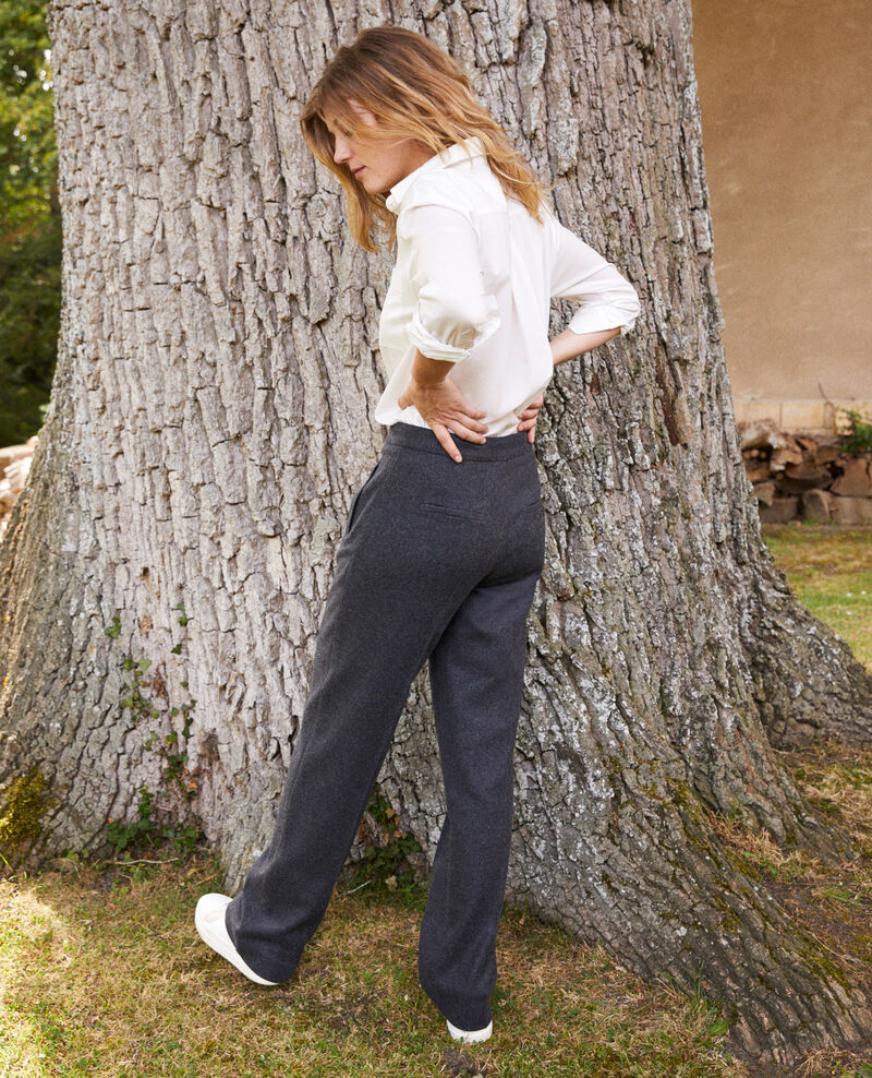 Wool blend suit trousers Heather grey Jermes