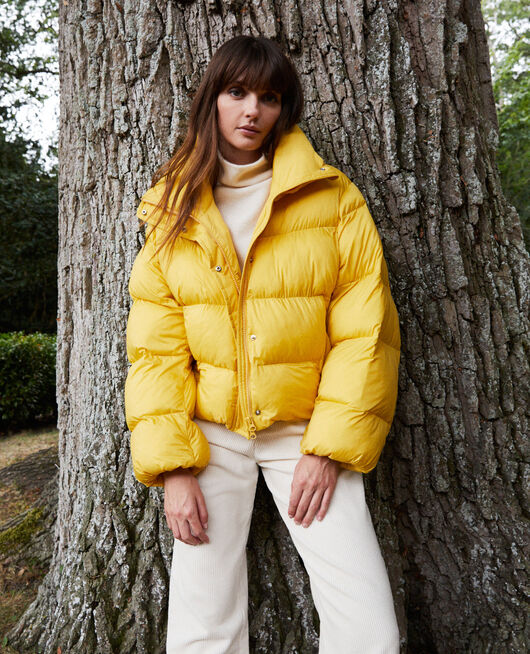 Oversize padded jacket SPICY MUSTARD