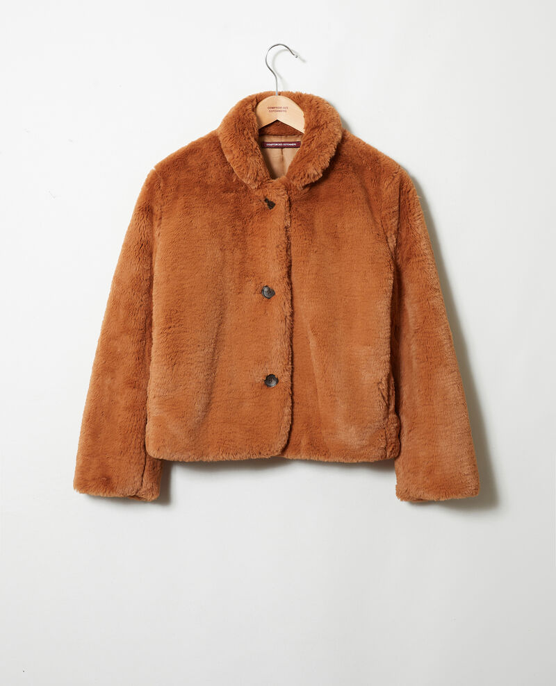 Short synthetic fur coat Lion Jakou