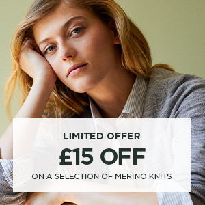 £15 off on a selection of merino knits
