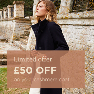 £50 off your cashmere coat
