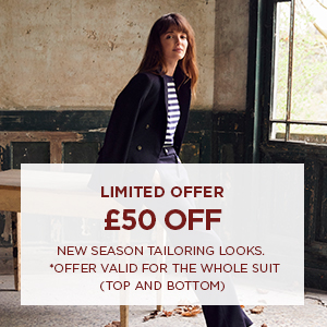 50€ off new season tailoring looks