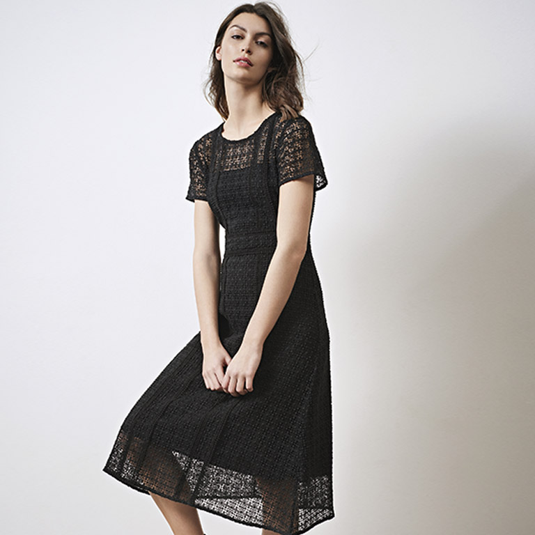 Look - Guipure and lace dress
