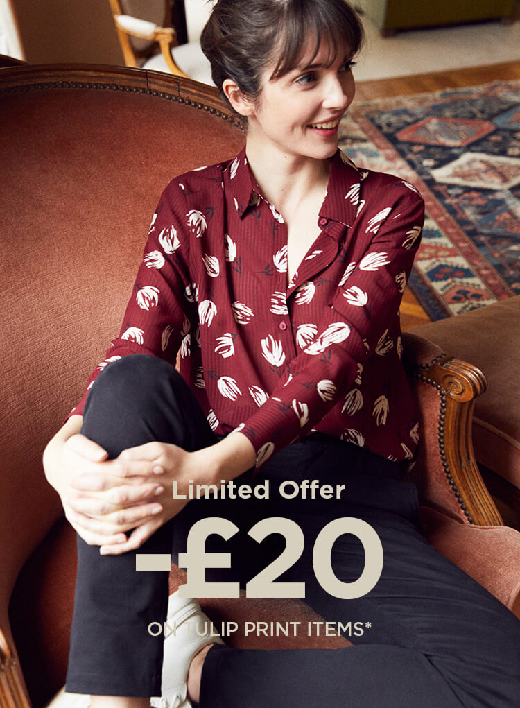 £20 off in selected tulip print items
