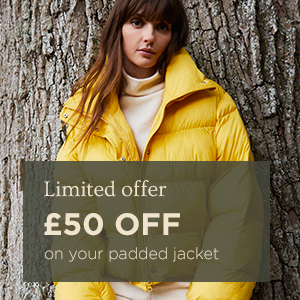 £50 off your padded jacket